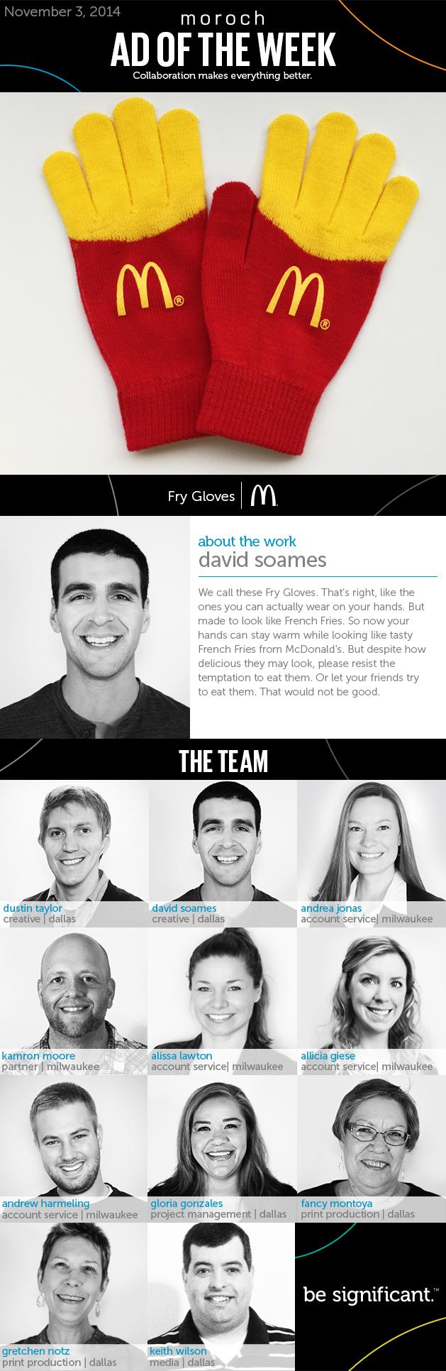 McDonald's Fry Gloves